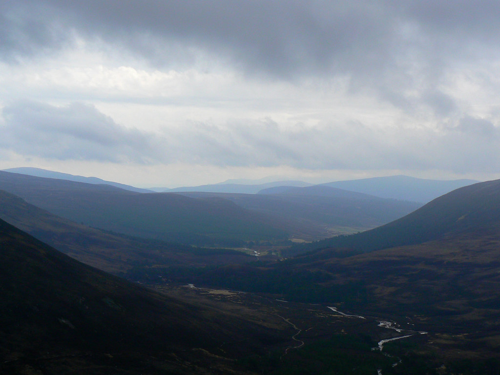 Ominous clouds over Lochnagar