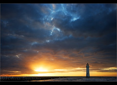 Perch Rock light.......... (Chrisconphoto) Tags: sunset lighthouse liverpool skyscape wirral newbrighton merseyside chrisconway goodlight perchrock