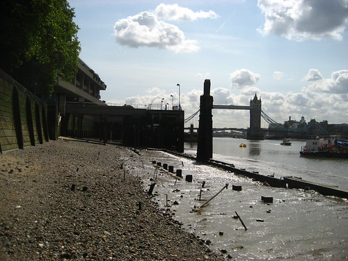 The shore at the Tower of London