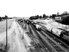 Tracks (Star Rush) Tags: cameraphone old blackandwhite bw train track traintracks documentary cellphone pacificnorthwest everett 3gs mobilephotography iphoneography iphone3gs