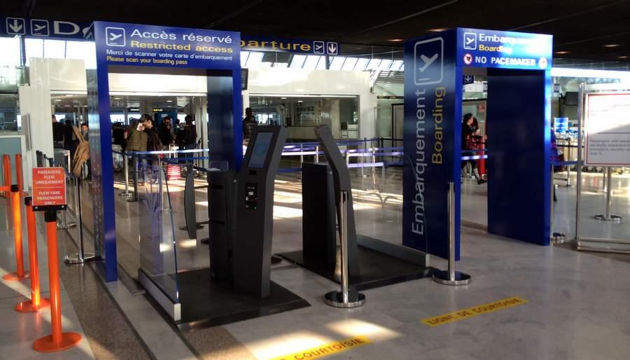Зона досмотра в аэропорту Ниццы