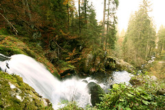 Wasserfall (seven years) Tags: black nature water forest canon germany waterfall stream wasserfall freiburg triberg 400d