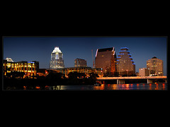 Austin Downtown Panoramic (LeGreg) Tags: skyline austin d50 downtown panoramic citylights townlake frosttower hogtied aplusphoto