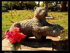 Jaguar Headstone