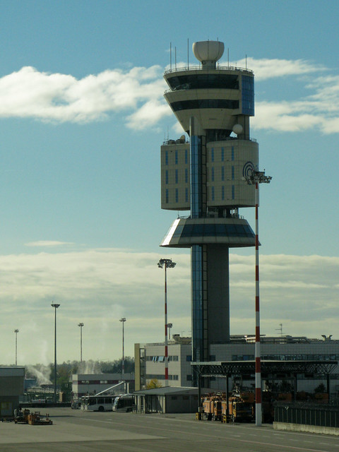 NYC0710 233 Milan Malpensa airport - Control tower