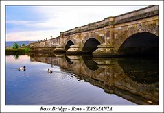 .Ross Bridge - Ross - TASMANIA. (Sim.B) Tags: bridge water reflections landscape ross ducks australia historic tasmania pointandshoot tassie srb convicts olympussp500 mywinners anawesomeshot impressedbeauty tassiesim bestofaustralia appleisle midlandshyway maquarieriver