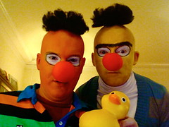 Ernie and Bert (with Rubber Duckie) Halloween 2007