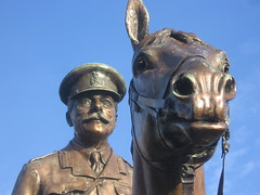 Wild staring eyes (shaggy359) Tags: horse castle statue soldier scotland eyes edinburgh esplanade ear haig