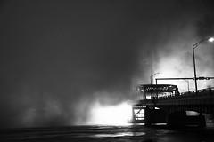 smoke on the water (jay j wilkie) Tags: bridge light water moody noiretblanc florida smoke jacksonville blacknwhite mainstbridge aplusphoto scenicsnotjustlandscapes