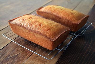 Vanilla Poundcakes w/ Rum Syrup