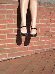 little doll legs (Lorena Cupcake) Tags: urban feet fashion socks clothing shoes dress girly style skirt heels kicks accessories shoegazer fashionvictim kneehighsocks streetstyle lowerhalf brandwhore otks
