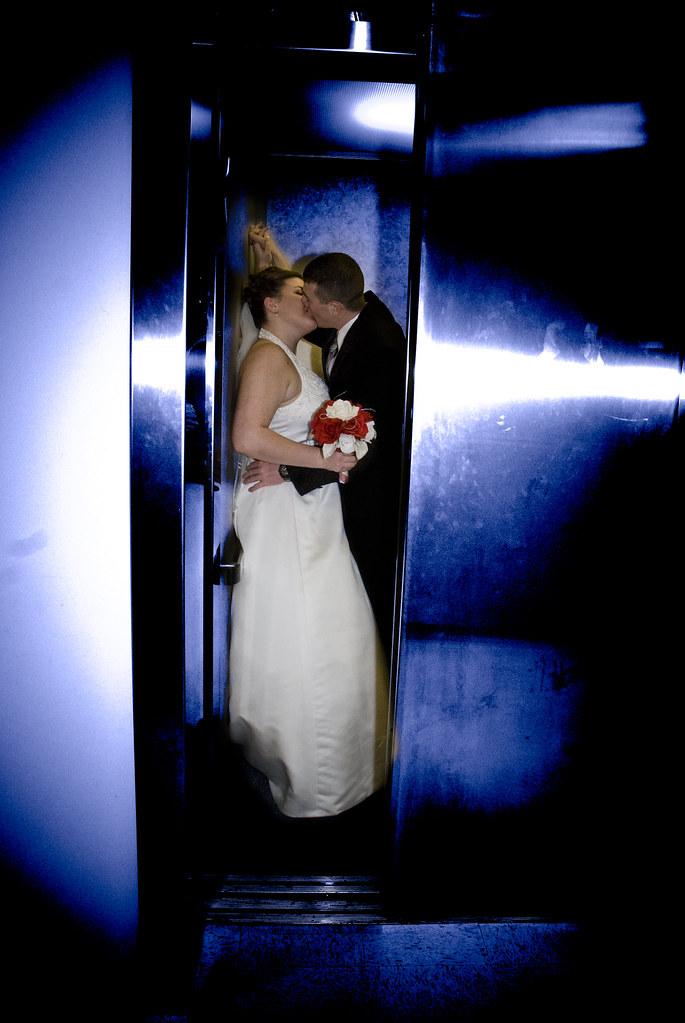 I've always wanted to get a bride groom elevator shot...