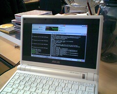 Photo of SC and Jack running on the Asus Eee