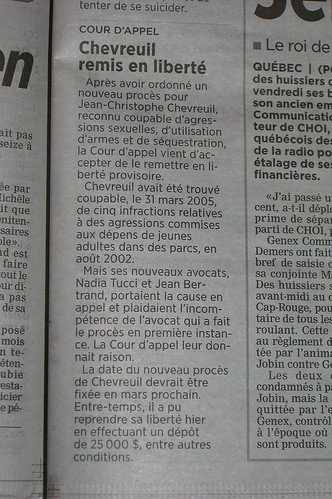 Chevreuil remis en liberté...
