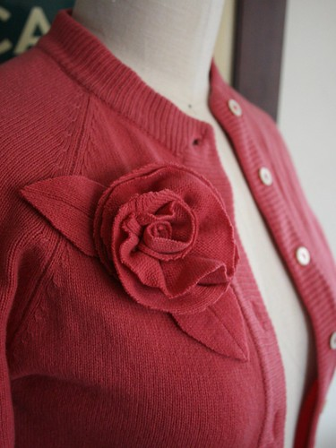 sweater with rose