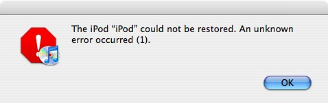 I can't restore my iPod touch to firmware 1.1.1 anymore