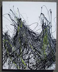 Peaks 1 Black on White (karleagleman) Tags: jackson karl pollock eagleman