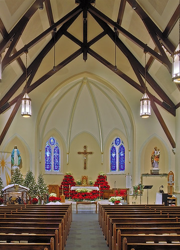 Saint Rose of Lima Roman Catholic Church, in De Soto, Missouri, USA - nave