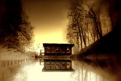 I (Made) A Dream......! (Nicolas Valentin) Tags: house lake reflection tree sepia scotland feel firstquality flickrelite 1nv