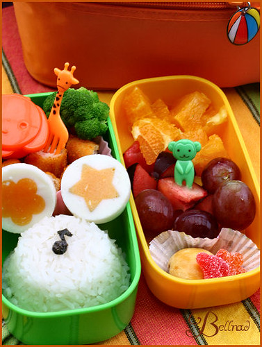 bento with chicken goujons