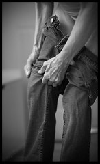 strength in the familar (work2snap) Tags: blackandwhite bw woman hands naturallight dressing jeans strength bluejeans gesture comfort pulling strengthinthefamilar puttingonjeans