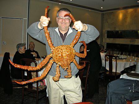 David wrestles the crab