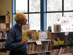 Robert reading at Boundary Elementary, North Vancouver