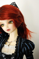 Nothing basic... (nettness) Tags: blue red toy doll dolls lace stripes lolita bjd f22 dollfie superdollfie volks redhair abjd abigale kun arttoys balljointeddoll balljointdoll victorianinspired sd13 basicline