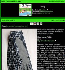 croq - Interview- Aorta (~aorta~) Tags: screenshot etsy interview aorta croq