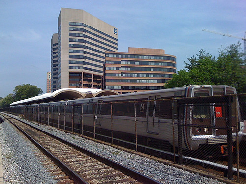 Red Line metro in Silver Spring, Maryland - Taken With An iPhone