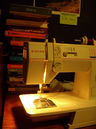 sewing and books