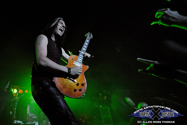 Alex Skolnick of Testament and TSO fame shreds during the Damnation Vacation tour