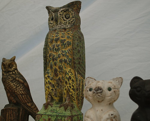 antique owl doorstop