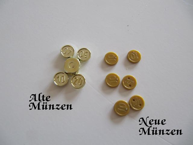 Alte und neue Münzen