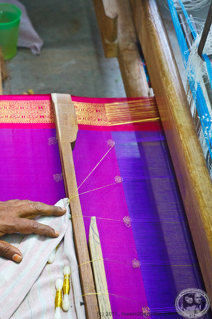 Weaving A Silk Sari