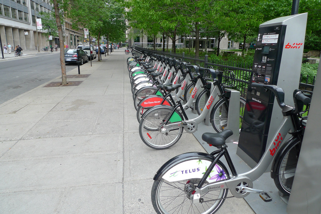 Copyright Photo: Montreal Bixi Bikes With Advertising by Montreal Photo Daily, on Flickr