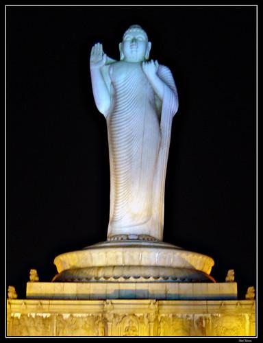 Gautam Buddha Statue in Water Shot at Gautam Buddha Statue