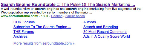Google Sitelinks 8