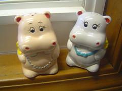Hippo Salt & Pepper Shakers