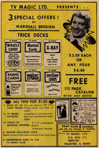 Vintage Ad #392: Trick Card Decks
