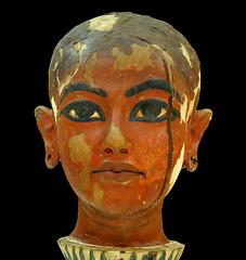 Tête de Toutânkhamon enfant (musée du Caire / Egypte)
