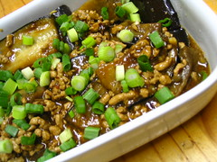 Fish-fragrant aubergine/eggplant (鱼香茄子)