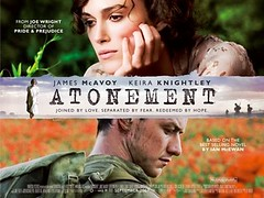 """Atonement"" movie poster (beastandbean) Tags: cinema film hollywood movies oscars academyawards goldenglobes joewright kieraknightley ianmcewan christopherhampton jamesmcavoy awardsseason saoirseronan"