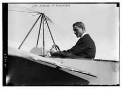 J.M. Johnson in Bleriotype [plane]  (LOC) (The Library of Congress) Tags: portrait usa sport america plane vintage airplane aircraft aviation flight johnson cockpit libraryofcongress 1910s sporting jm aviator johnston bleriot monoplane xmlns:dc=httppurlorgdcelements11 dc:identifier=httphdllocgovlocpnpggbain09350 earlyaeronautics bleriotype jmjohnson bleriotmonoplane