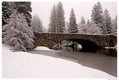 White Valley (Thi) Tags: bridge winter valley yosemite yosemitevalley stonemanbridge yosemitewinter