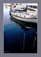 sausalito (Ellwave) Tags: blue reflection water boat sausalito aplusphoto