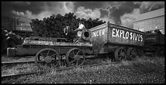 Explosives Wagon (K_D_B (One Eye On The Sky)) Tags: wales canon wagon wheels pipes rails explosives 30d bigpit kdb blaenavon welltaken superbmasterpiece pitprops wfc12012008bigpit