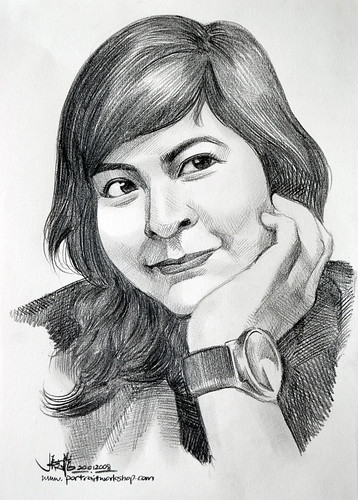Portrait pencil lady 200108