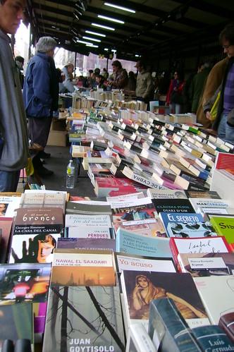 Libros en el mercado de Sant Antoni