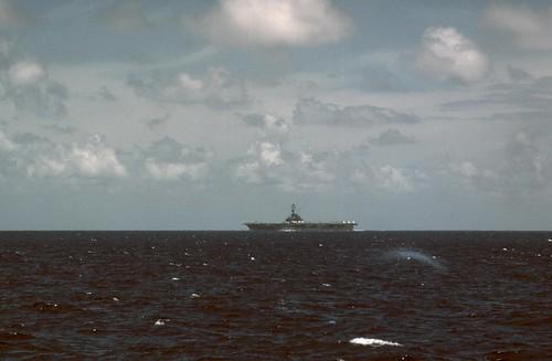 19660624FTB-446 USS Oriskany CV-34 Bashi Channel 24 Jun 1966